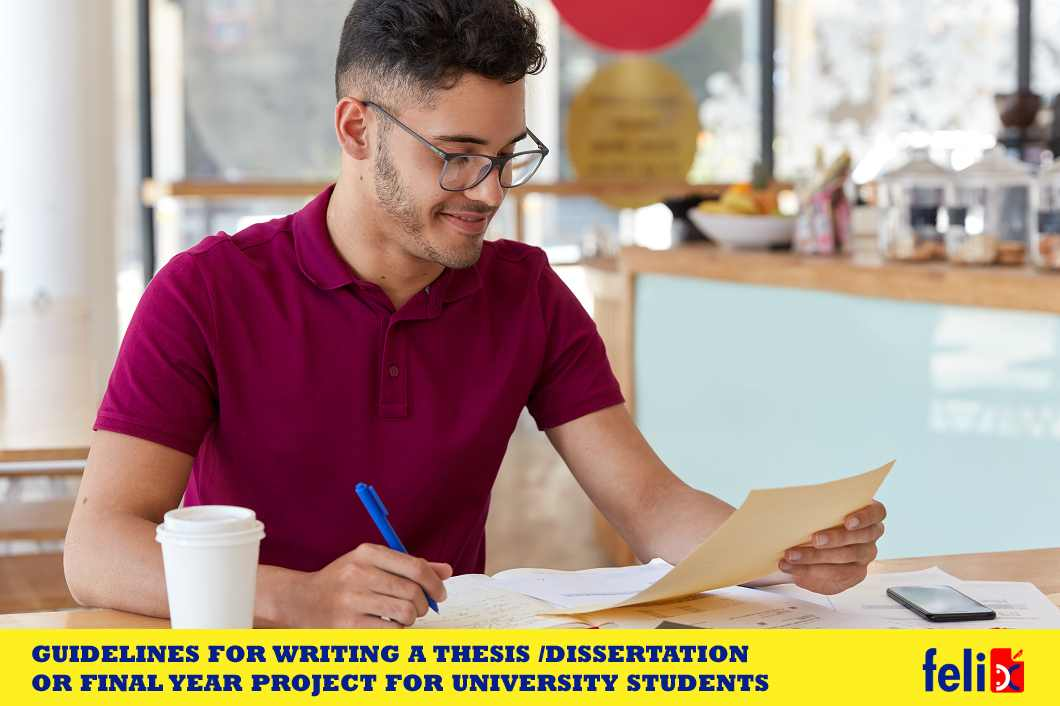 Guidelines for writing a thesis/dissertation (Also: knows as final year projects)